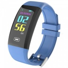 X4PLUS Color Screen Smart Bracelet w/ Pedometer, Heart Rate Monitor, Activity Tracker, App Control - Blue