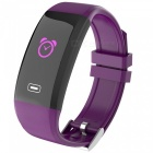 X4PLUS Color Screen Smart Bracelet w/ Pedometer, Heart Rate Monitor, Activity Tracker, App Control - Purple