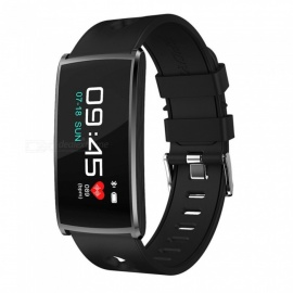 HM68 PLUS Waterproof Color Screen Smart Bracelet w/ Step By Step Multi-Sport Mode, Heart Rate Blood Pressure Monitor - Black