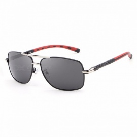 Premium High Quality Chic Fashion UV400 Protective Polarized Men's Sunglasses Eyewear Sun Glasses with Alloy Frame red