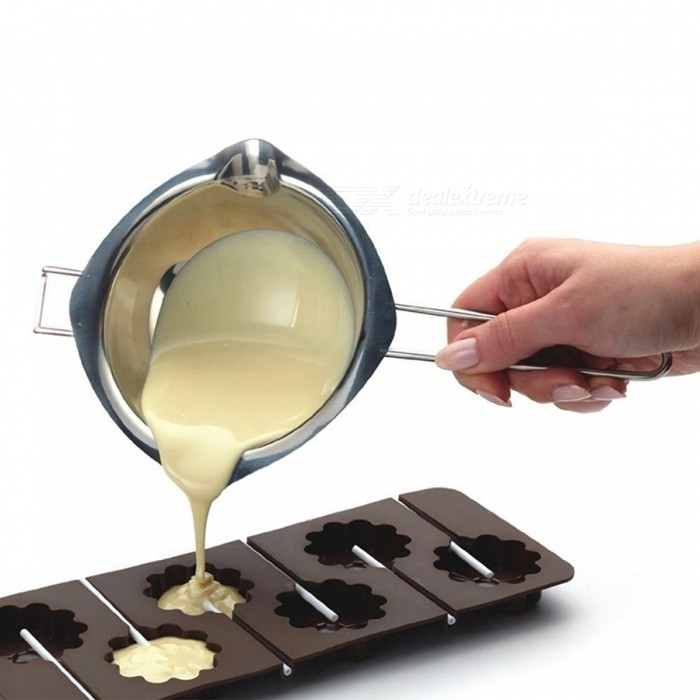 BSTUO Stainless Steel Chocolate Melting Bowl�� Fondant Paste Pouring Pot�� Sugar Butter Heating Kettle