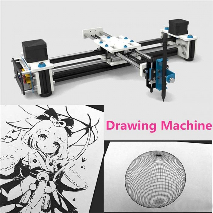 eleksmaker eleksdraw mini xy 2 axes cnc stylo traceur diy. Black Bedroom Furniture Sets. Home Design Ideas