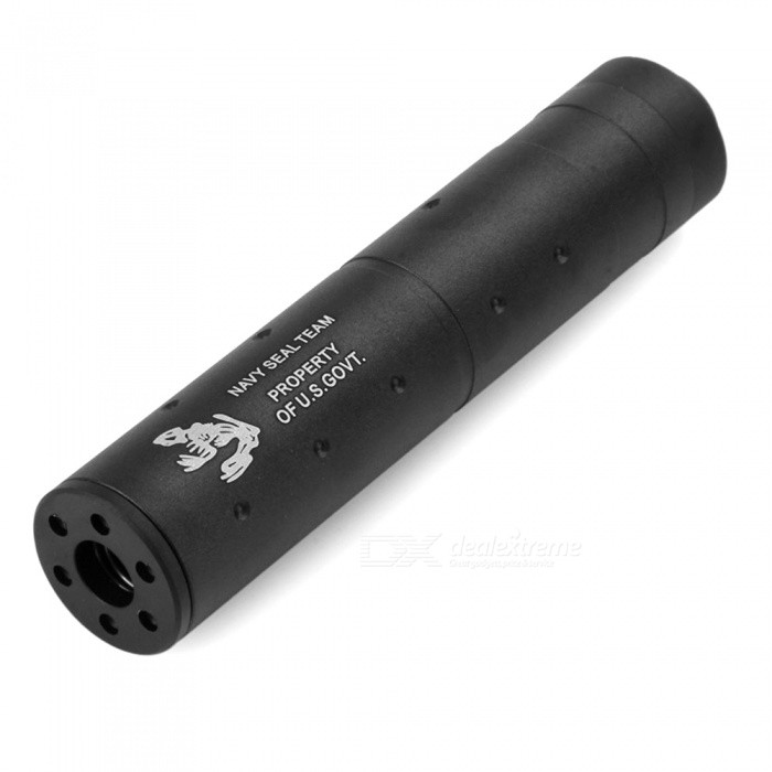 6 Durable Aluminum Alloy Suppressor Silencer for Airsoft - BlackOther Accessories<br>Form  ColorBlackForm  ColorBlackModel6 inchQuantity1 DX.PCM.Model.AttributeModel.UnitMaterialAluminum AlloySizeOthers,6Packing List1 x 6 inch silencer<br>