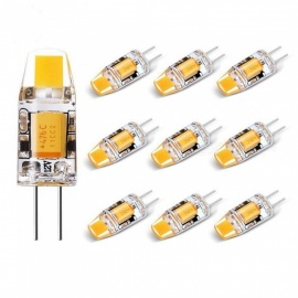 sencart 10pcs 2W G4 COB LED bombillas no regulables - blanco cálido
