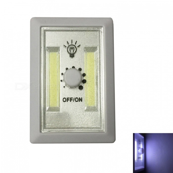 Ismartdigi Universal 007 LED Light Switch System Nightlight for Indoor or Outdoor Using Door Wall Wardrobe - WhiteLED Nightlights<br>Form  ColorWhiteModel007MaterialPlastic shellQuantity1 setPower2WRated VoltageOthers,1.25-1.5 VColor BINCold WhiteEmitter TypeLEDDimmableYesInstallation TypeWall MountOther Features3 x AAA (not included)Packing List1 x Switch System Light<br>