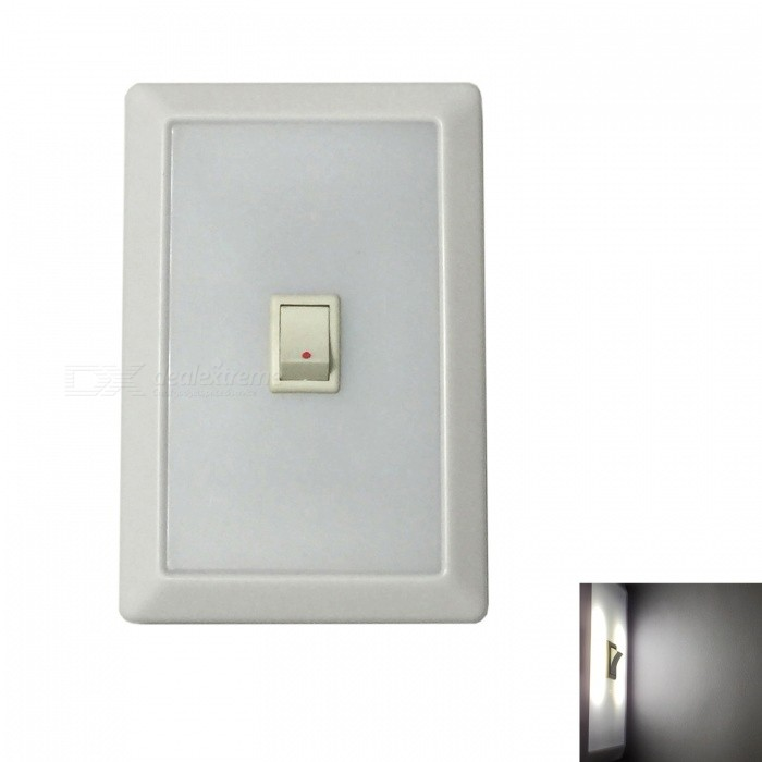 Ismartdigi 013 Universal LED Light Switch System Nightlight for Indoor or Outdoor Using Door Wall Wardrobe - WhiteLED Nightlights<br>Form  ColorWhiteModel013MaterialPlastic shellQuantity1 DX.PCM.Model.AttributeModel.UnitPower2WRated VoltageOthers,1.25-1.5 DX.PCM.Model.AttributeModel.UnitColor BINCold WhiteEmitter TypeLEDDimmableNoInstallation TypeWall MountOther Features3 x AAA (not included)Packing List1 x Switch System Light<br>