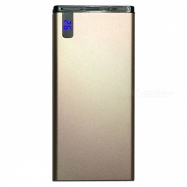 universale super slim 0.98cm 12000 mah 5V 2.1A power bank per cellulare - oro