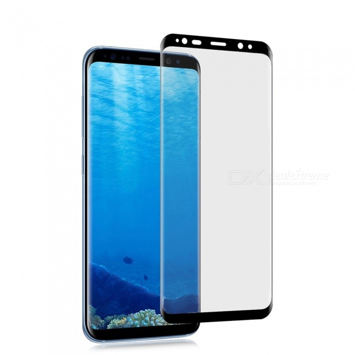 0.1mm Ultra-thin 3D Curved Edge PET Screen Film Guard Protector for Samsung Galaxy S8 Plus - BlackScreen Protectors<br>Form  ColorBlackScreen TypeGlossyModelN/AMaterialPETQuantity1 DX.PCM.Model.AttributeModel.UnitCompatible ModelsSamsung Galaxy S8 PlusFeatures3D,Scratch-proofPacking List1 x Screen Protector 1 x Wet wipe1 x Dry wipe1 x Dust sticker<br>