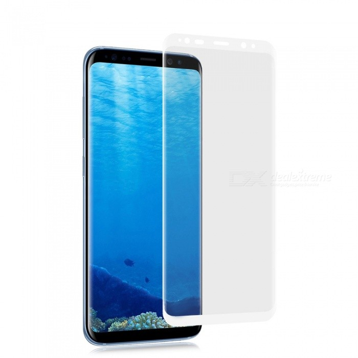 0.1mm Ultra-thin 3D Curved Edge PET Screen Film Guard Protector for Samsung Galaxy S8 Plus - WhiteScreen Protectors<br>Form  ColorWhiteScreen TypeGlossyModelN/AMaterialPETQuantity1 setCompatible ModelsSamsung Galaxy S8 PlusFeatures3D,Scratch-proofPacking List1 x Screen Protector 1 x Wet wipe1 x Dry wipe1 x Dust sticker<br>