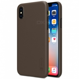 Funda de piel dura NILLKIN PC para IPHONE X - marrón