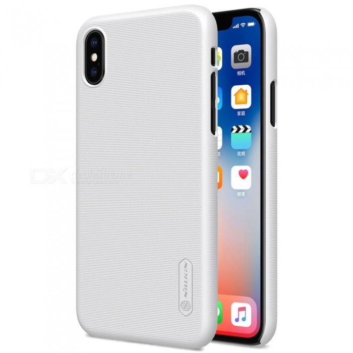 NILLKIN PC Hard Plastic Cover Case for IPHONE X - WhitePlastic Cases<br>Form  ColorWhiteModelNIPHX00HD08Quantity1 DX.PCM.Model.AttributeModel.UnitMaterialPlasticCompatible ModelsiPhone XDesignSolid Color,MatteStyleBack CasesPacking List1 x NILLKIN Super Frosted Shield1 x Screen Protector<br>