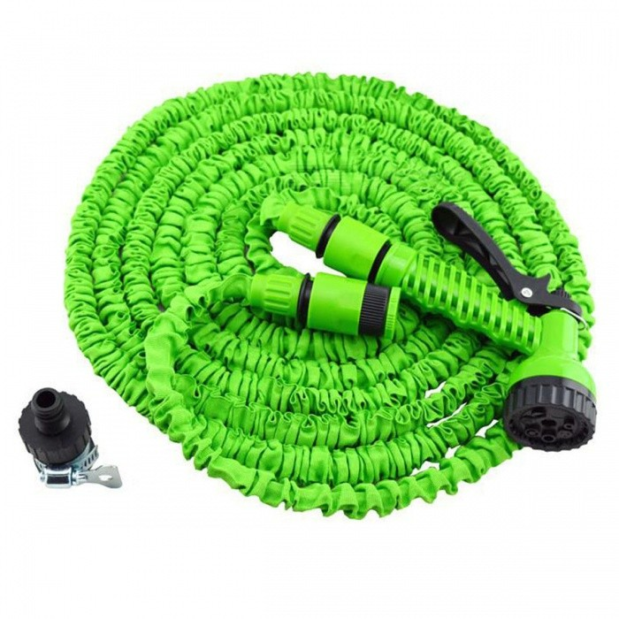 P top 100 ft magic expandable flexible telescopic retractable water hose for garden car green Expandable garden hose 100 ft