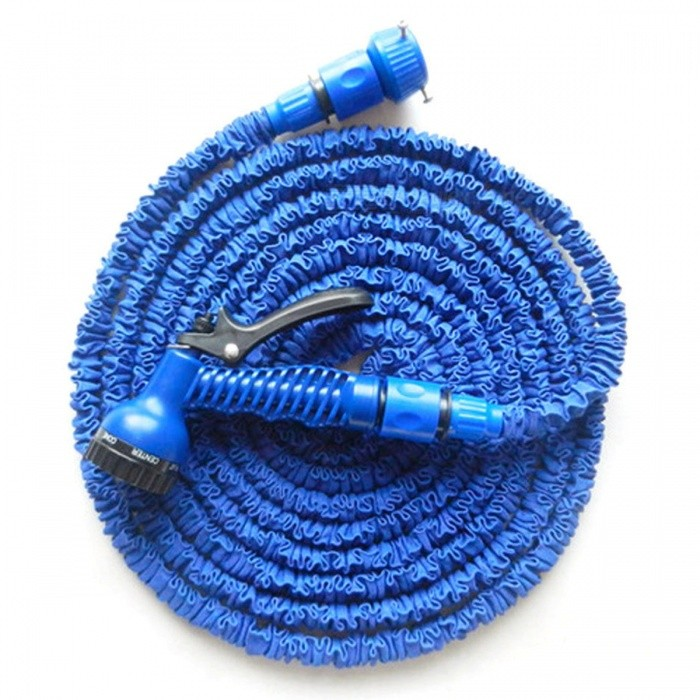 P-TOP 50FT Magic Expandable Flexible Telescopic Retractable Water Hose for Garden, Car - BlueCar Cleaning Tools<br>Form  ColorBlue - 50FTModel-Quantity1 DX.PCM.Model.AttributeModel.UnitMaterialABSShade Of ColorBlueTypeCleanersPacking List1 x Water Gun1 x Water Pipe2 x Connectors1 x English Manual<br>