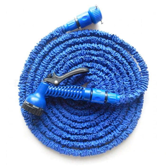 P-TOP 100FT Magic Expandable Flexible Telescopic Retractable Water Hose for Garden, Car - BlueCar Cleaning Tools<br>Form  ColorBlue - 100FTModel-Quantity1 DX.PCM.Model.AttributeModel.UnitMaterialABSShade Of ColorBlueTypeCleanersPacking List1 x Water Gun1 x Water Pipe2 x Connectors1 x English Manual<br>