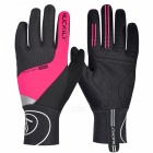 NUCKILY PD05 Winter Unisex Shockproof Touch Screen Full Finger Gloves for Outdoor Sport Bicycle Cycling Riding - Deep Pink (L)