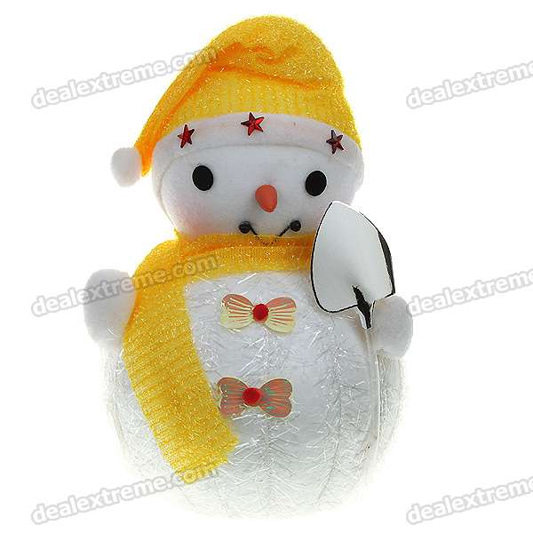 Festive Christmas Snowman Figure Toy Doll - Yellow + White 1 6 scale figure doll clothes male batman joker suit for 12 action figure doll accessories not include doll and other 1584