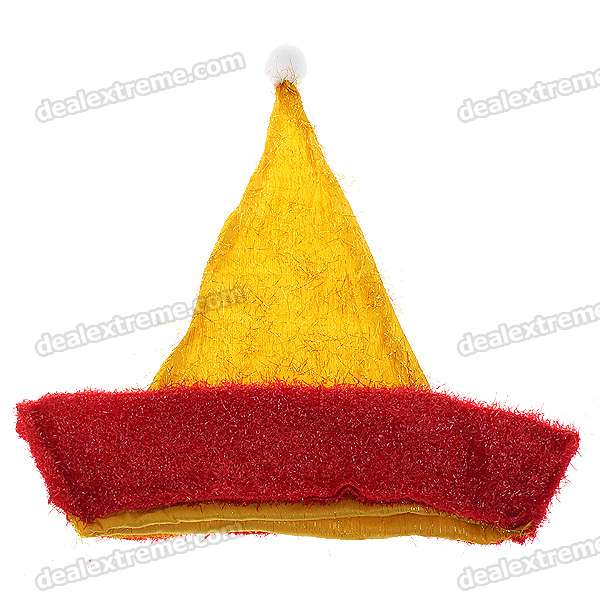 Festive Shining Christmas Hats - Gold + Red (5-Pack)