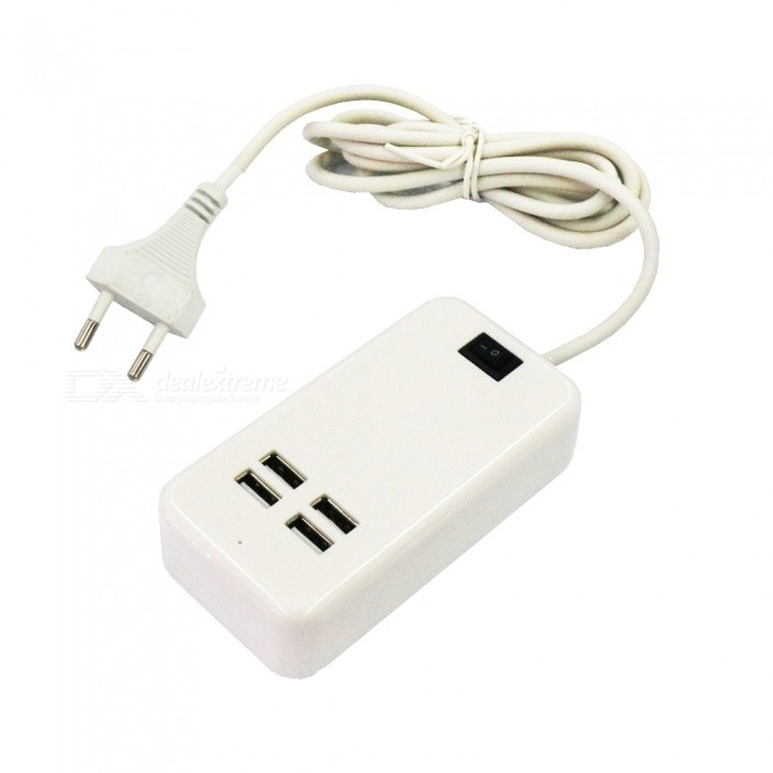 Portable 15W 4-Port USB Charging Power Strip - EU Plug (AC100-240V)Plugs &amp; Sockets<br>Form  ColorEU PlugModel4USBQuantity1 DX.PCM.Model.AttributeModel.UnitMaterialABSFireproof MaterialNoRate VoltageAC100-240VRated Current3 DX.PCM.Model.AttributeModel.UnitRated Power15 DX.PCM.Model.AttributeModel.UnitCompatible PlugOthers,USBGroundingYesOutlet4 DX.PCM.Model.AttributeModel.UnitWith Switch ControlYesSurge Protection FunctionYesLightning Protection FunctionYesWith FuseYesCable Length150 DX.PCM.Model.AttributeModel.UnitPower AdapterEU PlugPacking List1 x Charging power strip<br>