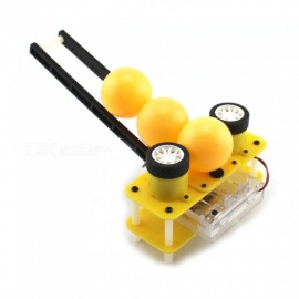 DIY Handmade Little Fun Ball Machine Assembled Model Toy for Kids