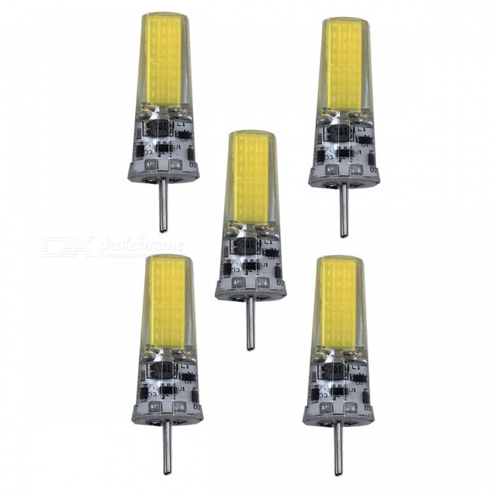 ZHAOYAO GY6.35 5W AC/DC-12V COB LED Light Silicone Lamp - White Light (5PCS)Other Connector Bulbs<br>Color BINCold White - 5PCSMaterialSiliconeForm  ColorWhiteQuantity5 piecePower5WRated VoltageOthers,AC/DC-12V VConnector TypeOthers,GY6.35Chip Type2508Emitter TypeCOBTotal Emitters1Actual Lumens250-450 lumensColor Temperature6000KDimmableNoBeam Angle360 °Other Features5500-7000KPacking List5 x LEDs<br>