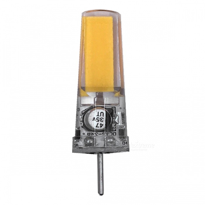 ZHAOYAO GY6.35 5W AC/DC-12V COB LED Light Silicone Lamp - Warm White LightOther Connector Bulbs<br>Color BINWarm White - 1pcMaterialSiliconeForm  ColorWhiteQuantity1 DX.PCM.Model.AttributeModel.UnitPower5WRated VoltageOthers,AC/DC-12V DX.PCM.Model.AttributeModel.UnitConnector TypeOthers,GY6.35Chip Type2508Emitter TypeCOBTotal Emitters1Actual Lumens250-450 DX.PCM.Model.AttributeModel.UnitColor Temperature3000KDimmableNoBeam Angle360 DX.PCM.Model.AttributeModel.UnitPacking List1 x LED<br>