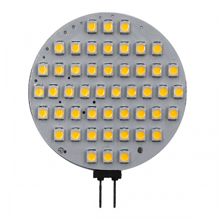 ZHAOYAO G4 6W AC/DC-12V 2835 SMD 48-LED Light - Warm White LightG4<br>Color BINWarm WhiteMaterialPCBForm  ColorWhiteQuantity1 setPower6WRated VoltageOthers,AC/DC-12V VConnector TypeG4Chip Type2835Emitter TypeOthers,2835SMD LEDTotal Emitters48Actual Lumens300-550 lumensColor Temperature3000KDimmableNoBeam Angle180 °Other Features2800-3500KPacking List1 x LED<br>