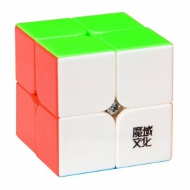 . moyu lingpo 50mm 2x2x2 liscio speed magic cube puzzle per bambini, adulti - colorato
