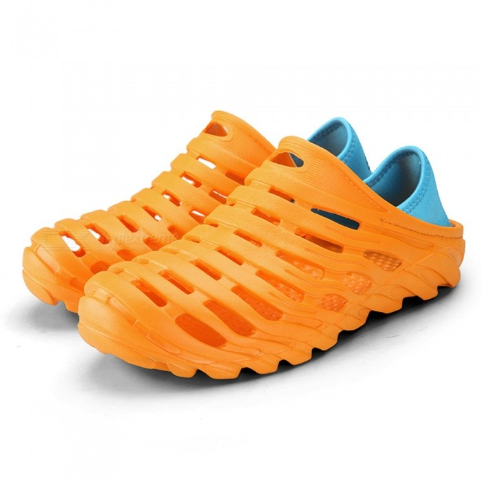 621 Mens Stylish Non-Slip Beach Shoes - Yellow (Size 45)Shoes<br>Form  ColorYellowEUR Size45Model621Quantity1 DX.PCM.Model.AttributeModel.UnitShade Of ColorYellowMaterialEVAStyleFashionFoot Length275 DX.PCM.Model.AttributeModel.UnitFoot Girth10-15 DX.PCM.Model.AttributeModel.UnitHeel Height2 DX.PCM.Model.AttributeModel.UnitPacking List1 x Shoes1 x Box<br>