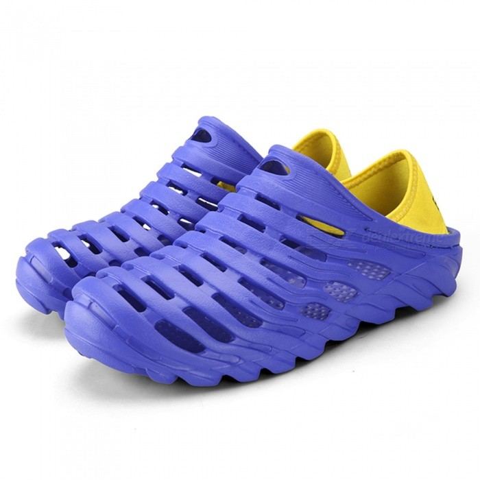 621 Mens Stylish Non-Slip Beach Shoes - Blue (Size 45)Shoes<br>Form  ColorBlueEUR Size45Model621Quantity1 setShade Of ColorBlueMaterialEVAStyleFashionFoot Length275 cmFoot Girth10-15 cmHeel Height2 cmPacking List1 x Shoes1 x Box<br>