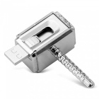 MAIKOU Waterproof Metal Hammer Shape USB 2.0 Flash Drive, U Disk - Silver (64GB)