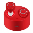 TWS F1 Mini Twins Wireless Stereo Bluetooth Headset Headphones Earphones with Microphone - Red