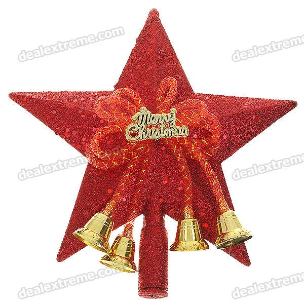 Festive Christmas Decoration - Shining Pentagram Figure Ornaments for Christmas Tree (5-Pack)