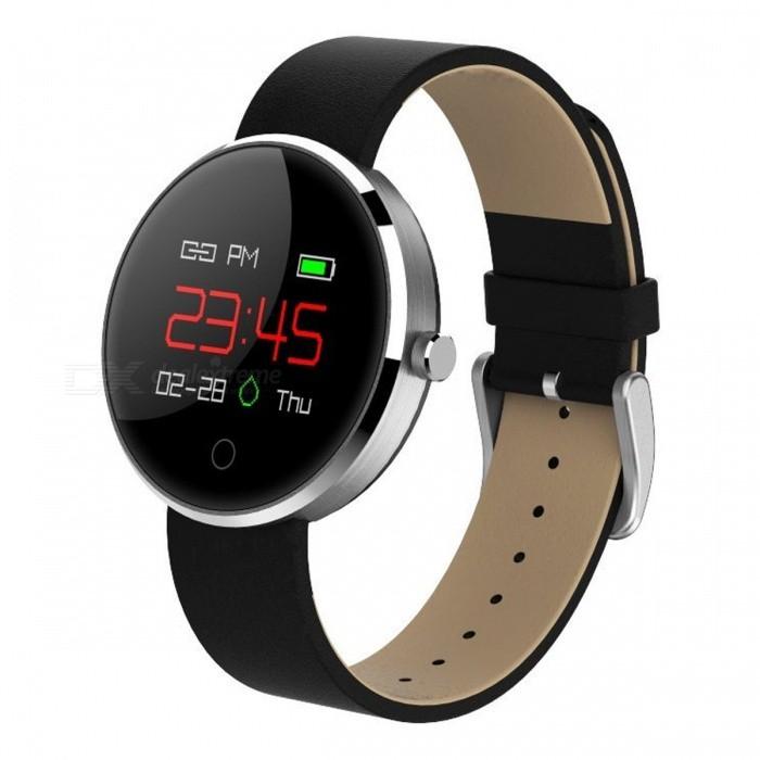 DM78 IP67 Waterproof 0.95 Color OLED BT 4.0 Smart Bracelet w/ Blood Pressure Monitor, Heart Rate Monitor - SilverSmart Bracelets<br>Form  ColorSilver + MulticoloredQuantity1 setMaterialABSShade Of ColorSilverWater-proofIP67Bluetooth VersionBluetooth V4.0Touch Screen TypeYesCompatible OSiOS 8.0 + &amp; Android 4.4 +Battery Capacity120 mAhBattery TypeLi-polymer batteryStandby Time5-7 daysPacking List1 x Smart Bracelet1 x USB Charging Line1 x User Manual<br>