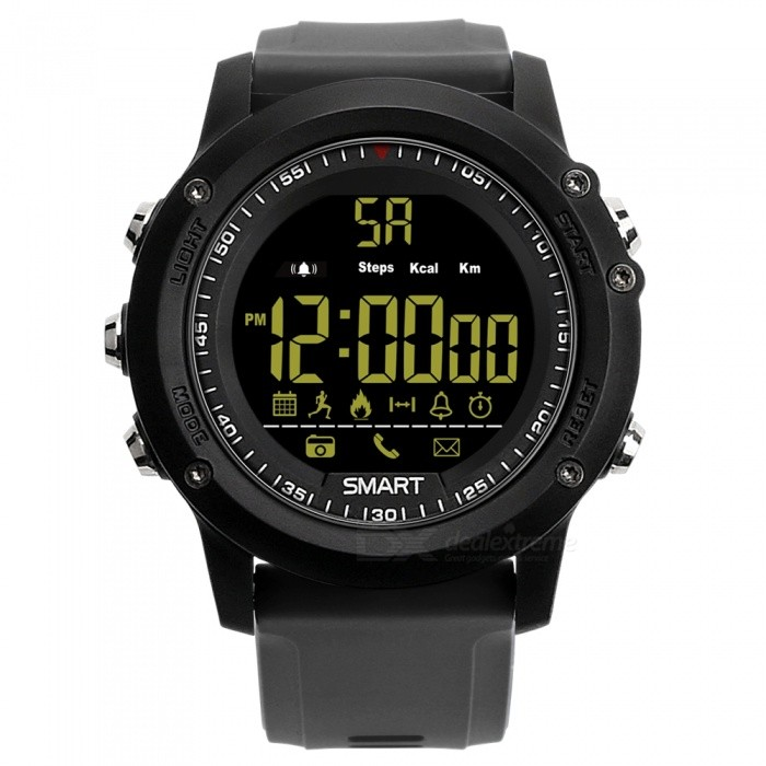 EX17 Sports Bluetooth Intelligent Waterproof IP67 Smartwatch with Alarm Clock Pedometer - Grey + BlackSmart Watches<br>Form  ColorGrey + MulticolorQuantity1 DX.PCM.Model.AttributeModel.UnitMaterialABSShade Of ColorGrayCPU ProcessorSI-BW03Screen Size1.12 DX.PCM.Model.AttributeModel.UnitScreen Resolution12 FSTN LCDTouch Screen TypeYesBluetooth VersionBluetooth V4.0Compatible OSAndrews Android4.4 and iOS8.0 aboveLanguageEnglishWristband Length22 DX.PCM.Model.AttributeModel.UnitWater-proofIP67Battery ModeReplacementBattery TypeCR2032 batteryBattery Capacity210 DX.PCM.Model.AttributeModel.UnitStandby Time12 DX.PCM.Model.AttributeModel.UnitForm  ColorGrey + MulticolorPacking List1 x Smart Watch1 x Manual<br>