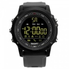 EX17 Sports Bluetooth Intelligent Waterproof IP67 Smartwatch with Alarm Clock Pedometer - Grey + Black