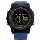 EX17 Sports Bluetooth Intelligent Waterproof IP67 Smartwatch with Alarm Clock Pedometer - Blue + Black