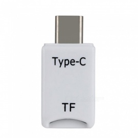 USB 3.1 Type-C Card Reader OTG Adapter, Supports Micro SD TF Card - White