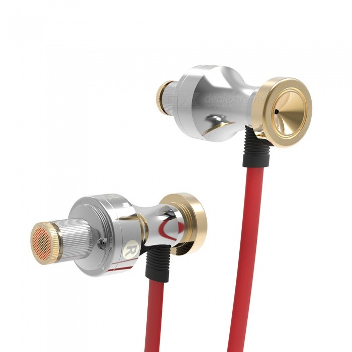 QKZ KD1 Stereo 3.5mm Wired Sports Earphone with Mic, Noise Cancelling In-Ear Earbuds for Smartphones - Golden + SilverHeadphones<br>Form  ColorGolden + Silver + Multi-ColoredForm  ColorSilver + RedBrandOthers,QKZModelKD1MaterialCopper + ABSQuantity1 pieceConnection3.5mm WiredBluetooth VersionNoConnects Two Phones SimultaneouslyNoCable Length120 cmLeft &amp; Right Cables TypeUnequal LengthHeadphone StyleBilateral,Earbud,In-EarWaterproof LevelIPX2Applicable ProductsUniversalHeadphone FeaturesHiFi,Noise-Canceling,Volume Control,With Microphone,Portable,For Sports &amp; ExerciseRadio TunerNoSupport Memory CardNoSupport Apt-XNoChannels2.0Sensitivity120dBFrequency Response20-2000HZImpedance32 ohmDriver Unit9mmBattery TypeOthers,NOCertificationCE,FCCPacking List1 x KD1 Earphone3 Set x Ear caps1 x Ear box<br>