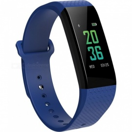 B12 Sports Smart Bluetooth Bracelet w/ Heart Rate Ecg and Blood Pressure Monitoring, Sleep Temperature Test - Blue