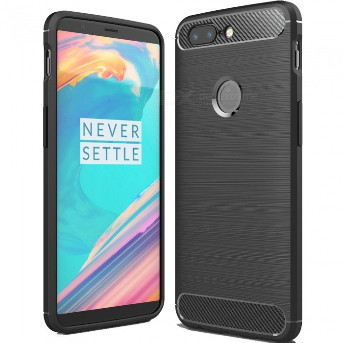ASLING Protective Carbon Fiber TPU Soft Cover for OnePlus 5T - BlackTPU Cases<br>Form  ColorBlackModelASL-OnePlus 5TMaterialTPUQuantity1 pieceShade Of ColorBlackCompatible ModelsOnePlus 5TForm  ColorBlackPacking List1 x Protective Case<br>