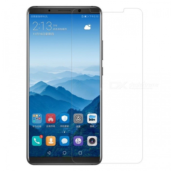 9H Hardness 0.2mm Tempered Glass Screen Protector for Huawei Mate10 ProScreen Protectors<br>Form  ColorTransparentScreen TypeGlossyModelN/AMaterialTempered GlassQuantity1 DX.PCM.Model.AttributeModel.UnitCompatible ModelsHuawei Mate10 ProFeatures2.5D,Scratch-proof,Tempered glassPacking List1 x Tempered glass film1 x Wet wipe1 x Dry wipe1 x Dust sticker<br>