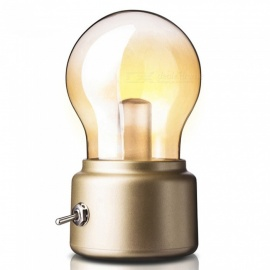 P-TOP Vintage Retro Style Energy-Saving Rechargeable Battery USB Charging Nightlight LED Light Bulb - Golden