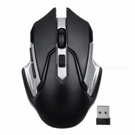 Mini 2.4G Wireless Optical Mouse Mice for Notebook Laptop Desktop Computer - Silver + Black