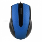 Fc-3009 led usb optical wired mouse for laptop computer game - blue