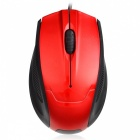 Fc-3012 portable mini optical usb wired mouse for laptop computer - red