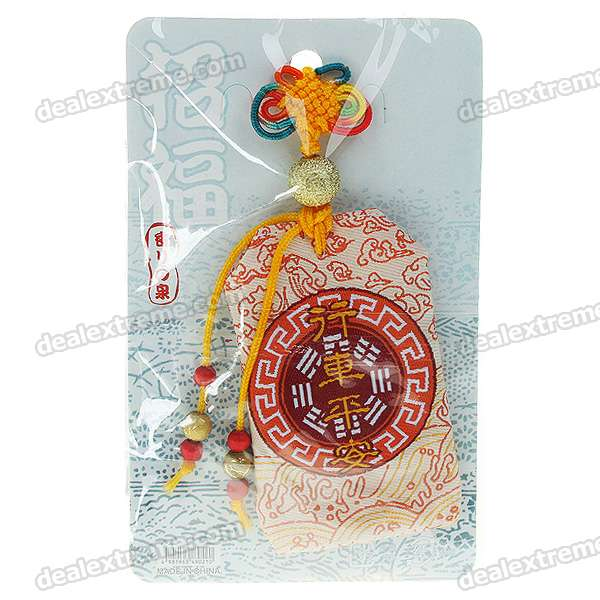 Chinese Buddhist Blessing Lucky Fook Bag With Chinese Knot Strap