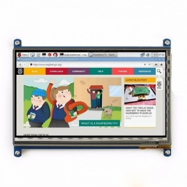 Elecrow Raspberry Pi 3 Display, 7 Inch Touch Screen HDMI HD LCD TFT 1024 x 600 Monitor for Raspberry Pi 3 2B B Pcduino Win7 8  white