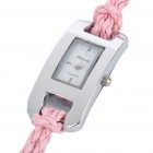 Stylish Quartz Watch with PU Leather + Rope Watch Strap - Random Color (1*377)