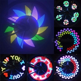 32-LED DIY Colorful Bike Bicycle Wheel Spokes Light Lamp, Cycling Tire Signal LED Luces for Night Riding White