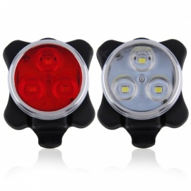 Mini 4-Mode USB Rechargeable LED Bike Bicycle Tail Light Flashlight with Mount, Built-in Battery - Red